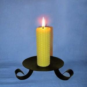 4 bougies naturelles en cire d'abeille - 4 piliers 3,5x13cm