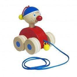 Clown en bois à traîner