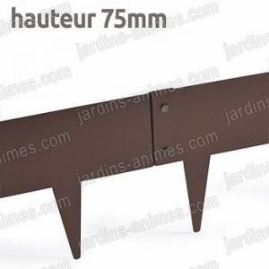 Bordurette Acier 1m - français haut.75mm