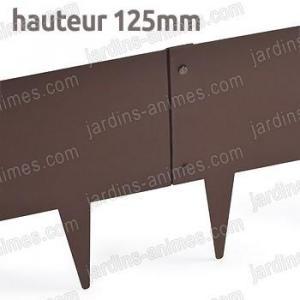 Bordurette Acier 1m - français haut.125mm