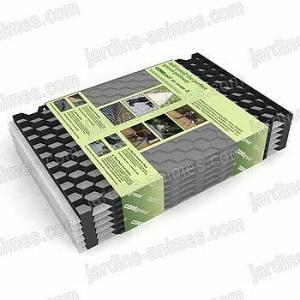Plaque stabilisation gravier 57.5cmx40cm, lot de 6 = 1.38 m2