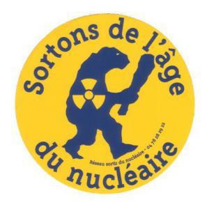 Sticker Sortons de l'âge du nucléaire