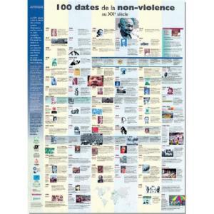 Affiche '100 dates de la non-violence'