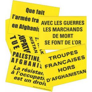 10 stickers anti-guerre (Afghanistan, Irak...)