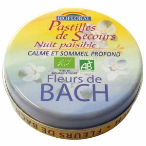 Pastilles de secours Nuit paisible - Fleurs de Bach Rescue 50g