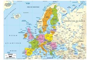 Puzzle en bois Carte d'Europe 50 pcs