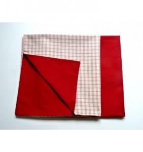 Taie d'oreiller en percale Red Checks Amaryllis