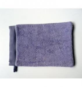 Gants de toilette Lavender brodé Pure