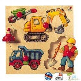 Puzzle en bois du chantier