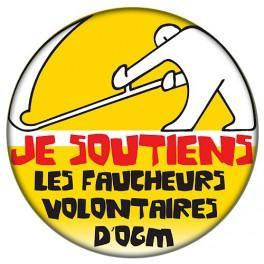 Badge Je soutiens les faucheurs d'OGM