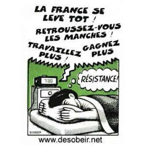Sticker La France se lève tôt