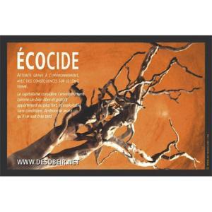 Sticker Ecocide capitalisme