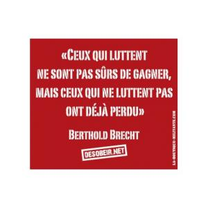 Sticker Citation Berthold Brecht