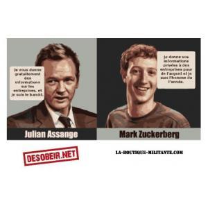 Sticker Assange Zuckerberg