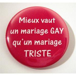 Badge 'Mariage pour tous'