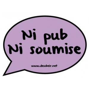 Bulle de BD antipub 'Ni pub ni soumise'