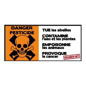 Sticker danger pesticide (Grand)