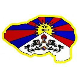 Sticker Carte du Tibet