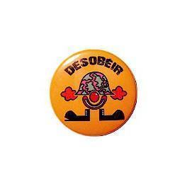 Badge clown désobéissant