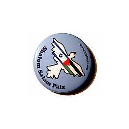 Badge Shalom Salam pour la paix au Moyen-Orient