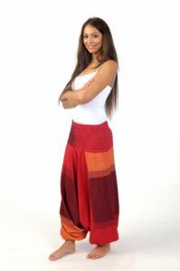 Sarouel homme femme élastique rouge Sanjeevani