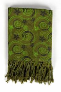 Cheche foulard babacool flowers in the wind kaki