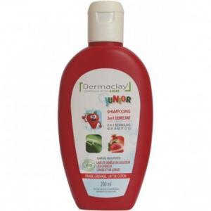 Shampooing junior 2 en 1 démêlant Fraise Grenade - Dermaclay