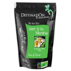 Thé vert à la menthe 250 g - Centre de caféologie