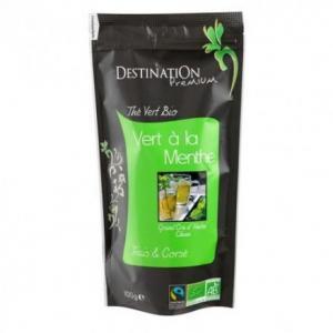 Thé vert à la menthe 100 g - Centre de caféologie