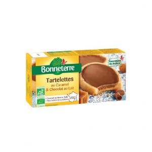 Tartelettes caramel - chocolat au lait Bio - Bonneterre