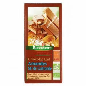 Chocolat au lait Amandes - sel de Guérande - Bonneterre