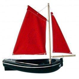 Barque en bois noire