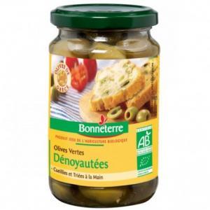 Olives vertes dénoyautées Bio - Bonneterre