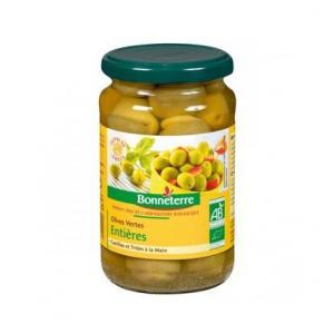 Olives vertes entières Bio - Bonneterre