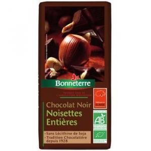 Chocolat noir noisettes entières 200 g - Bonneterre