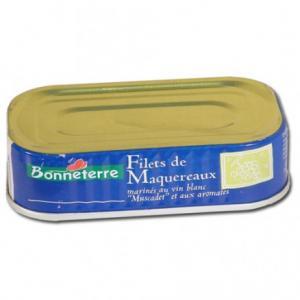 Filets de maquereaux marinés au vin blanc et aromates 176g - Bonneterre