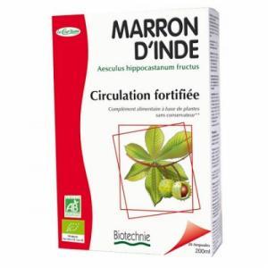 Marron d'inde circulation fortifiée - Biotechnie