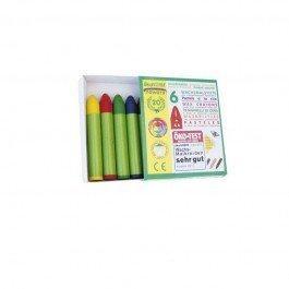 6 Crayons pastels à la cire d'abeille