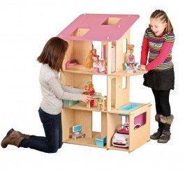 Maxi maison en bois pour poupées mannequins (non meublée)
