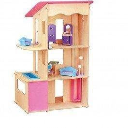 Maxi maison en bois pour poupées mannequins meublée