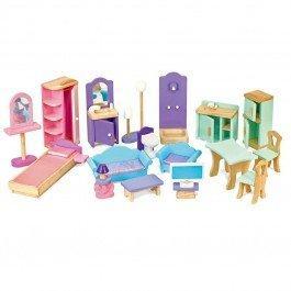 Accessoires en bois pour maison de poupées mannequins