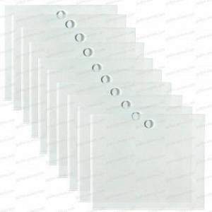 Etiquette transparente 120x100mm X10