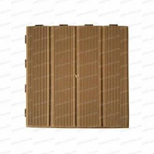 Dalle plastique marron clair 28x28cm - lot de 4