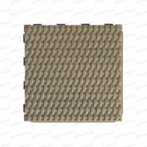Dalle plastique tressée brun argile 28x28cm - lot de 4