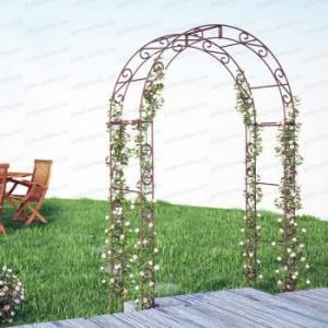 Arche de jardin arrondie en acier plein 1.42x2.24m