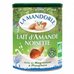 Lait en poudre Amande Noisette   Fleur de Noisette
