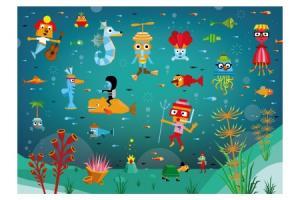 Puzzle en bois Le monde aquatique 100 pcs