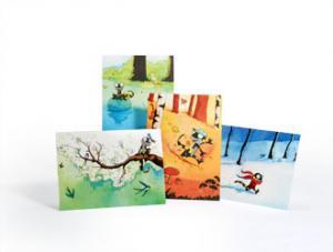 Lot de 4 cartes