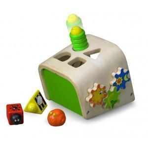 Boite à formes animaux du jardin wonderworld - jouets en bois