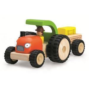 Tracteur de la ferme mini wonderworld - jouets en bois